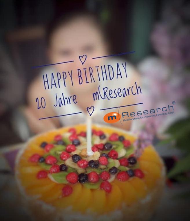 Happy Birthday 20 Jahre mresearch marktforschung merchandising consulting österreich graz austria
