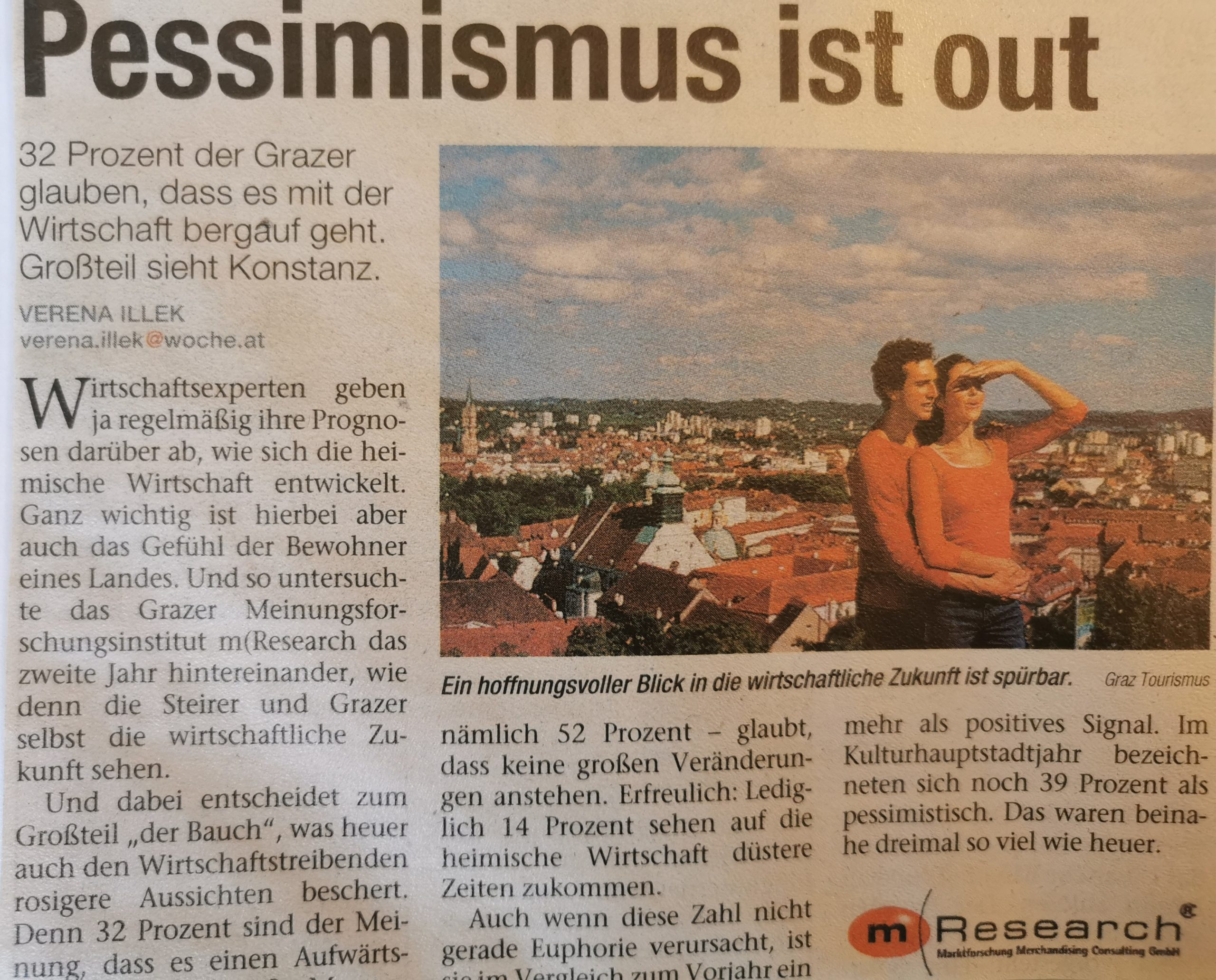 pessimismus ist out Umfrage