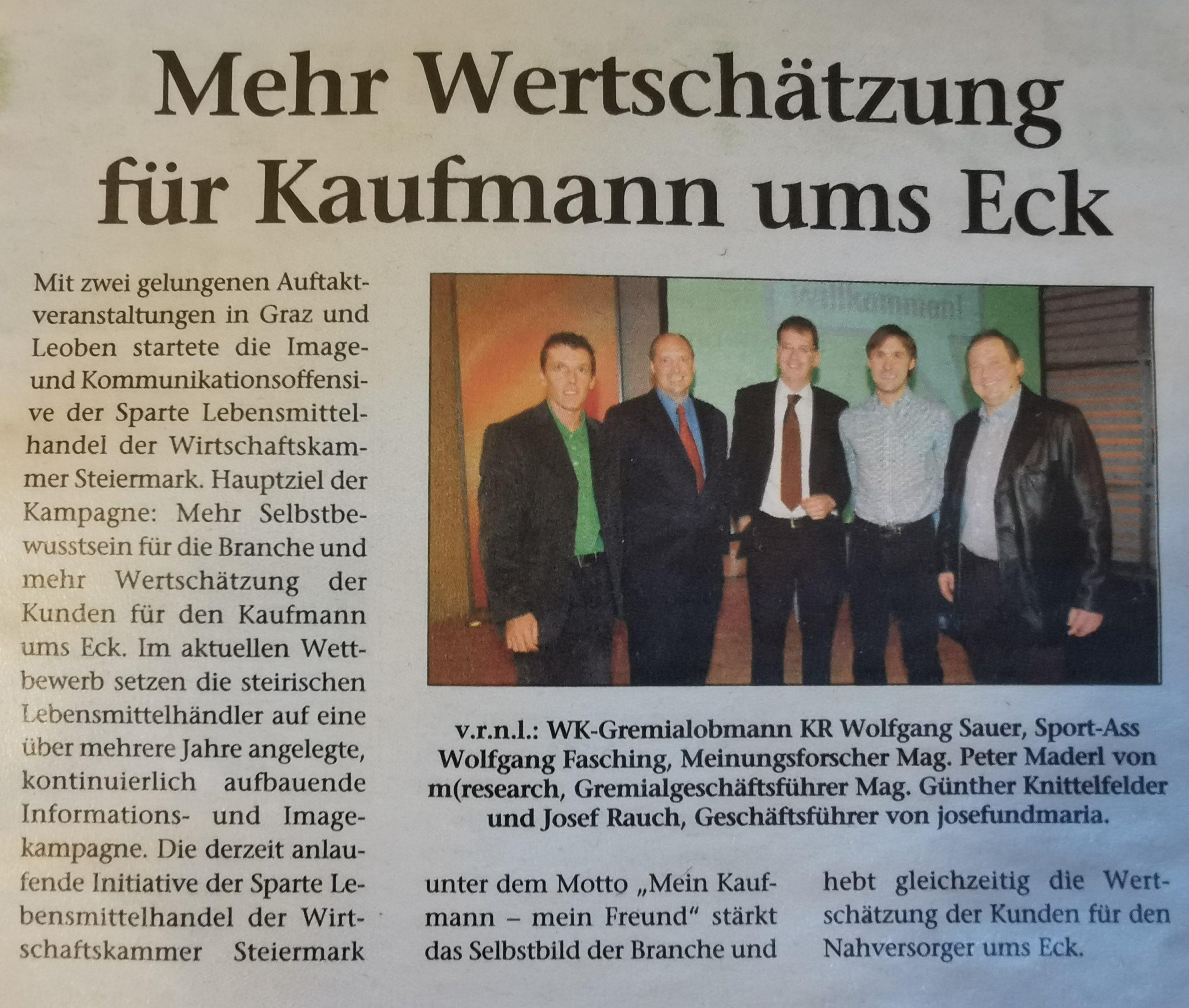 WK Steiermark Wertschätzung Kaufmann Auftaktveranstaltung