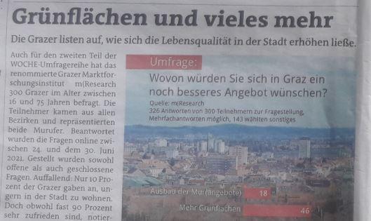 Grnflächen Stadt Graz Umfrage