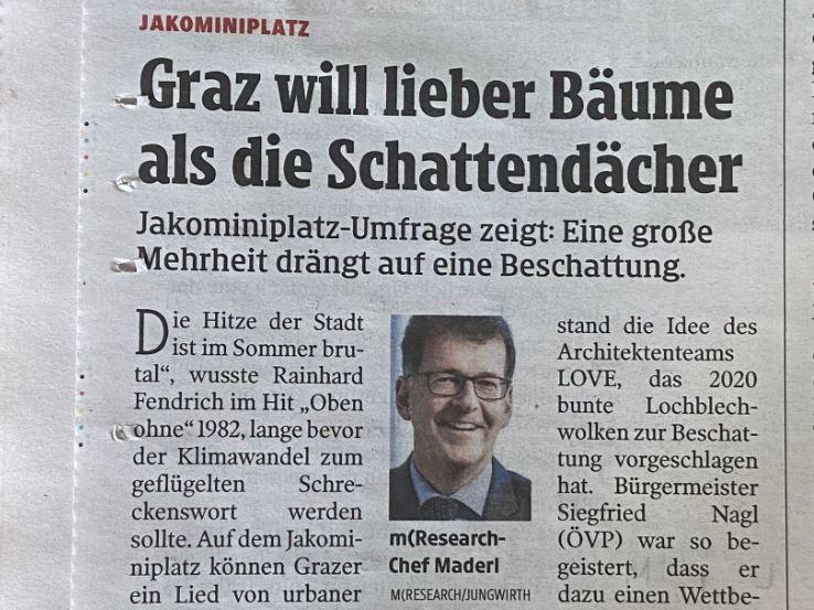 beschattung Bäume Stadt Graz mresearch umfrage