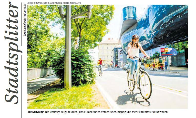Umfrage Verkehrsberuhigung Mobilitätsumfrage Graz