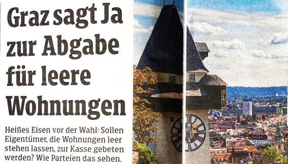 Graz Immobilien Leerstand Abgabe Umfrage mresearch